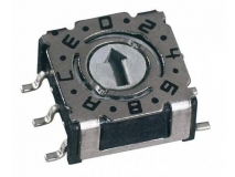 Low profile coded rotary switches - Surface mount or through-hole    Rotary encoder旋转编码器    Rotary switch旋转编码开关  Rotary DIP switches旋转拨码开关